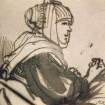 Portrait of Saskia by Rembrandt Harmenszoon van Rijn