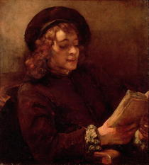 Titus Reading by Rembrandt Harmenszoon van Rijn