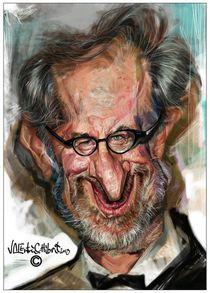 Steven Spielberg caricature by creartiv3