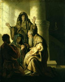 Simeon and Hannah in the Temple by Rembrandt Harmenszoon van Rijn