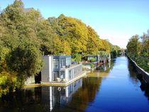 Herbststimmung mit Hausbooten von minnewater