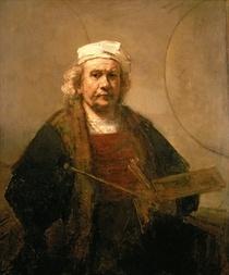 Self portrait by Rembrandt Harmenszoon van Rijn