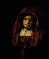 Portrait of an Old Woman  by Rembrandt Harmenszoon van Rijn