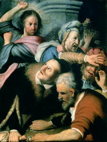 Christ Driving the Moneychangers from the Temple by Rembrandt Harmenszoon van Rijn