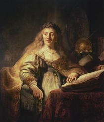 Saskia as Minerva by Rembrandt Harmenszoon van Rijn