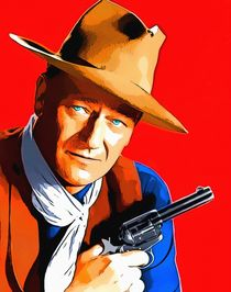 John Wayne in Rio Bravo by Art Cinema Gallery