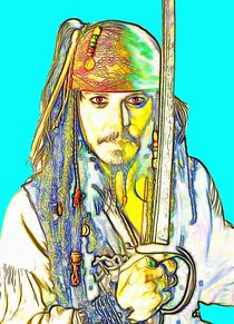 Johnny Depp in Pirates of the Caribbean von Art Cinema Gallery