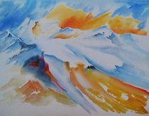 Blick auf das Mont Blanc Massif von Theodor Fischer