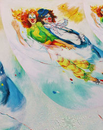 flying Clowns by Barbara Tolnay