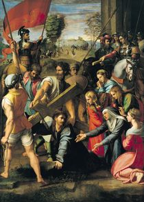 The Fall on the Road to Calvary by Raffaello Sanzio of Urbino