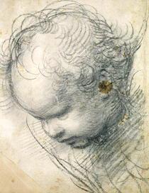 Head of a Cherub  by Raffaello Sanzio of Urbino
