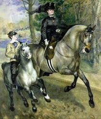 Reiterin in der Bois de Boulogne von Pierre-Auguste Renoir