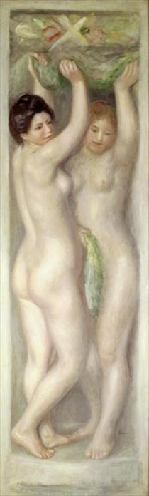 Die Karyatiden von Pierre-Auguste Renoir