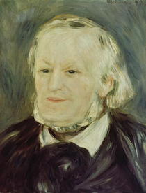 Portrait of Richard Wagner  by Pierre-Auguste Renoir