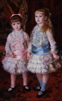 Pink and Blue or, The Cahen d`Anvers Girls by Pierre-Auguste Renoir