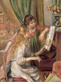 Young Girls at the Piano by Pierre-Auguste Renoir