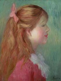 Mädchen mit langem Haar von Pierre-Auguste Renoir
