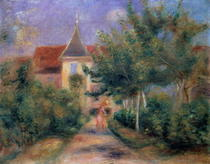 Renoir`s house at Essoyes by Pierre-Auguste Renoir