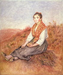 Frau mit Kaminholz von Pierre-Auguste Renoir