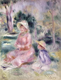 Madame Renoir and her son Pierre by Pierre-Auguste Renoir