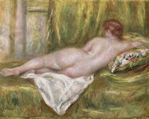 Reclining Nude from the Back, Rest after the Bath von Pierre-Auguste Renoir