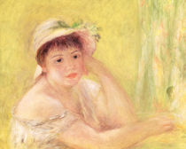 Woman in a Straw Hat by Pierre-Auguste Renoir