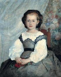 Portrait of Mademoiselle Romaine Lacaux by Pierre-Auguste Renoir