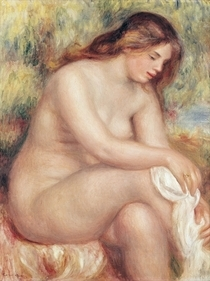 Bather Drying Herself by Pierre-Auguste Renoir
