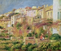 Terrace in Cagnes by Pierre-Auguste Renoir