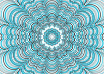 blue mandala von Emily Attarian