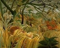 Tiger in a Tropical Storm (Surprised!) by Henri J.F. Rousseau