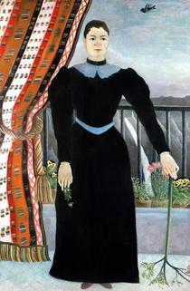 Portrait einer Frau von Henri J.F. Rousseau