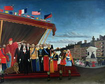The Representatives of Foreign Powers Coming to Salute by Henri J.F. Rousseau