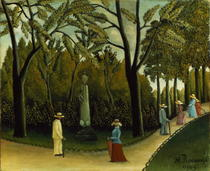 The Monument to Chopin in the Luxembourg Gardens by Henri J.F. Rousseau