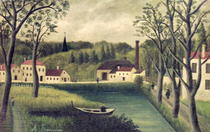 Landscape with a Fisherman by Henri J.F. Rousseau