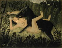 Beauty and the Beast by Henri J.F. Rousseau