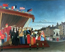 Representatives of the Forces greeting the Republic as a Sign of by Henri J.F. Rousseau
