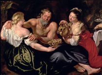Lot and his daughters  by Peter Paul Rubens