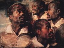 Studie des Kopfes eines Schwarzen von Peter Paul Rubens