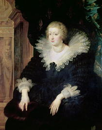 Portrait of Anne of Austria  by Peter Paul Rubens