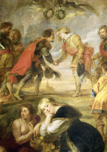 The Meeting of Ferdinand II and his son the Cardinal Infante Fer by Peter Paul Rubens