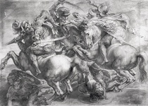 The Battle of Anghiari after Leonardo da Vinci by Peter Paul Rubens