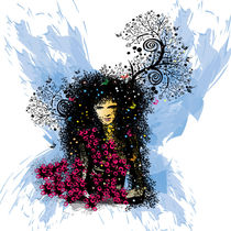 Butterfly woman von Cindy Shim