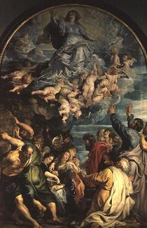 The Assumption of the Virgin Altarpiece by Peter Paul Rubens