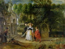 Rubens and Helene Fourment in the Garden by Peter Paul Rubens