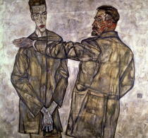 Double Portrait of Otto and Heinrich Benesch  by Egon Schiele