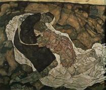 Mann und Mädchen von Egon Schiele