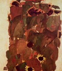 Sonnenblumen II von Egon Schiele