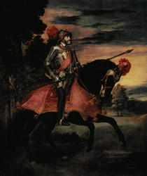 The Emperor Charles V on Horseback in Muhlberg by Tiziano Vecellio