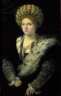 Portrait of Isabella d'Este by Tiziano Vecellio